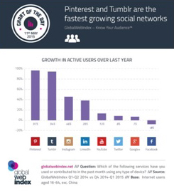 Pinterest And Tumblr Fastetst Growing Networks
